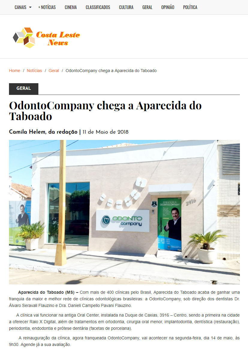 OdontoCompany chega a Aparecida do Taboado/MS